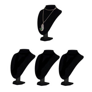3x Necklace Pendant Display Bust Stand Holder Durable 36x24x20 Velvet