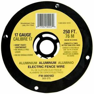 Electric Spool Wire 250 Feet 17 Gauge Heavy Duty Aluminum Agricultural Fencing