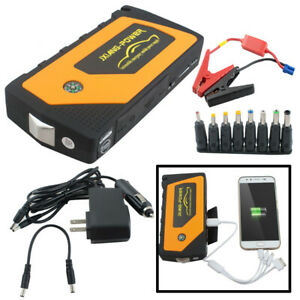 Great Portable Car Jump Starter Pack Booster 4usb Charger Battery Power Bank Ce