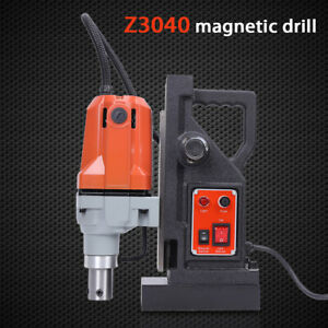 1100w Md40 Magnetic Drill Press 40mm Boring 12000n Mag Force Industrial