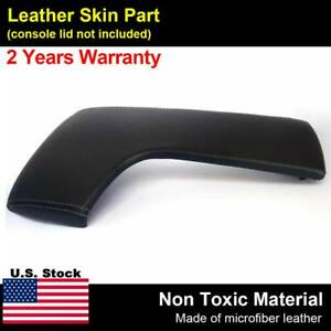 Leather armrest console lid cover fits lexus is250 is350 2014 2017 gray stitch