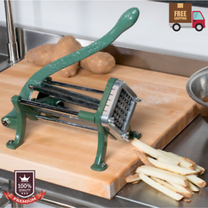 Countertop Cast Iron French Fry Potato Straight Cutter Slicer Chopper 1 2