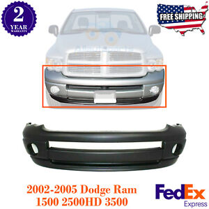 Front Bumper Cover Primed Plastic For 2002 2005 Dodge Ram 1500 2500 3500