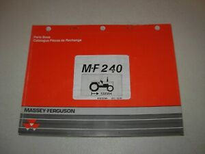 Massey Ferguson Mf 240 Tractor Parts Manual S n 522354 Up Issued 1991
