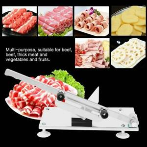 Adjustable Manual Frozen Food Meat Slicer Beef Sheet Roll Cutter Stainless Steel