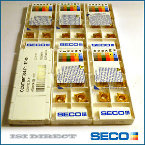 Ccmt 32 51 F1 Tp40 Seco 10 Inserts 1 Factory Pack