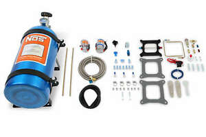 Nos Cheater Nitrous System Fits Holley 4 Bbl Carter Afb W Blue 10 Lb Bottle