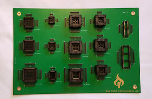 Multi ic Socket Board For Qfp Plcc And Dip Packages
