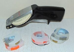 Rotex Vintage Black And Chrome Heavy Duty Label Maker With 6 Tape Rolls