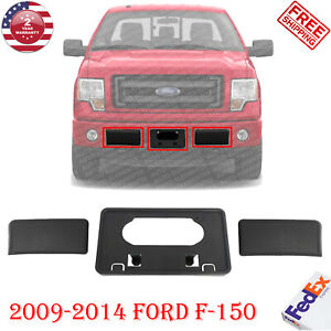 Front Bumper Guards Pads License Plate Frame Bracket For 2009 2014 Ford F 150