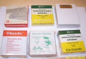 6 Boxes Blank Glass Microscope Slides With 1 Ounce Of Cover Glass