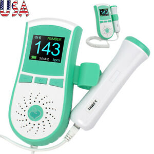 Pocket Fetal Doppler Baby Heart Monitor High Sensitivity Interchangeable Probe