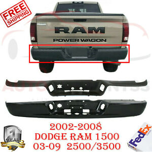 Step Bumper Kit Fleetside Rear For 2002 2008 Dodge Ram 1500 2003 2009 2500 3500