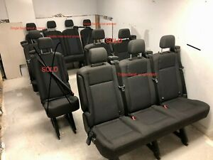All 2017 Transit Van Seats fit 2015 2018 W Charcoal Cloth Great Condition