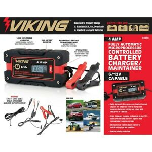 Battery Charger maintainer 4 Amp Fully Automatic Microprocessor Controlled