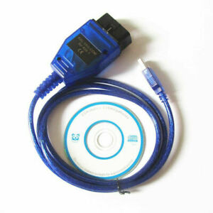 Kkl Vag Com 409 1 Usb Cable Obd2 Ii Obd Diagnostic Scanner For Vw Audi Seat Vcds