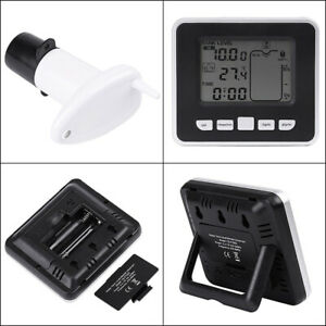 Water Tank Lcd Level Monitor Gauge Receiver Meter Temp Sensor W Timer Alarm