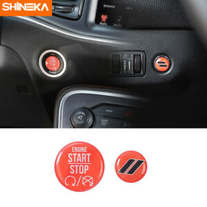 Car Engine Start Stop Tailgate Switch Button Cover Stickers For Dodge Charger