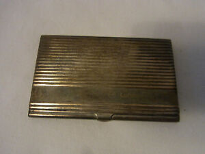 Vintage Silver Plated Business Card Box Lufthansa Cargo m