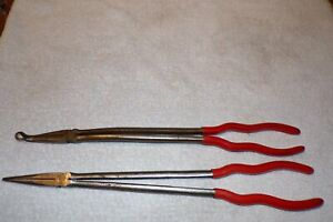 Mac Tools 16 Inch Long Reach Needle Nose And Grip Pliers P116s P16sg