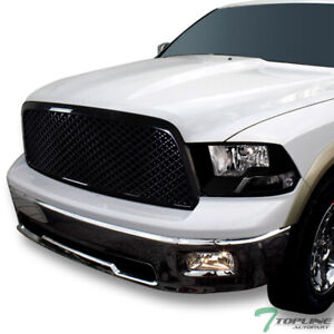 Topline For 2009 2012 Dodge Ram 1500 Dual Lamp Blk Headlights Signal mesh Grille
