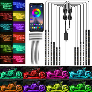 2x Colorful Led Car Cup Holder Pad Mat For Auto Interior Atmosphere Lights Lamp