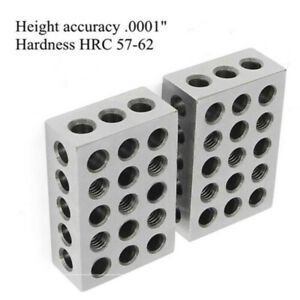 2 Matched Pair Ultra Precision 1 2 3 Blocks 23 Holes 0001 Machinist 123 Jig