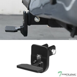 Topline Universal 2 Trailer Receiver Rear Hitch Folding Step Bar Matte Black