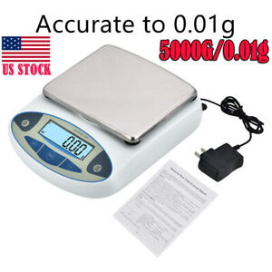 5000g X 0 01g Lab Analytical Balance Digital Precision Electronic Scale weight