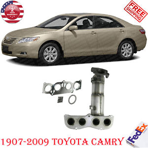 Front Catalytic Converter For Toyota Camry 2007 2009 4 Cyl 2 4l Eng