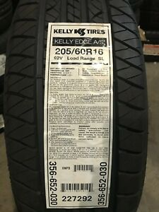 2 New 205 60 16 Kelly Edge A s Tires