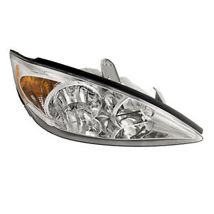 Fits 2002 2004 Toyota Camry Le Xle Chrome Rh Passenger Side Front Headlight