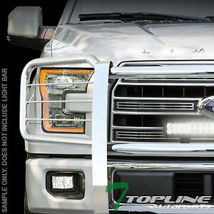 Topline For 2015 2017 Ford F150 Brush Push Bumper Grill Grille Guard Stainless