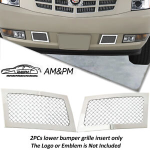 Fits 2007 2014 Cadillac Escalade Bumper Stainless Steel Mesh Grille Grill Insert