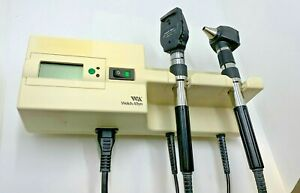 Welch Allyn 767 Series Transformer With Ophthalmoscope Otoscope Heads Used