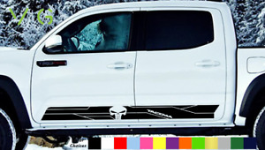 Toyota Tacoma Trd Vinyl Decal Sticker Punisher Skull Side Door X2 Any Color