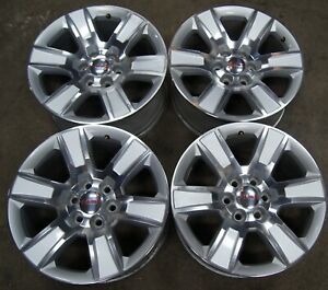 Gmc Sierra Yukon Bright Machined 20 Factory Oem Wheels Rims 5650 1943