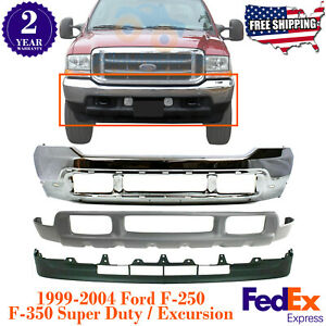 723front Chrome Bumper Low Covers For Ford Super Duty 99 04 Excursion 00 04