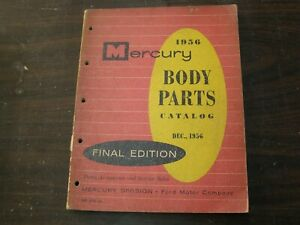 Oem Ford 1956 Mercury Master Parts Book Body Monterey Montclair