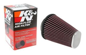 K N Universal Powersport Motorcycle Rc 3680 Chrome Oval Tapered Air Filter