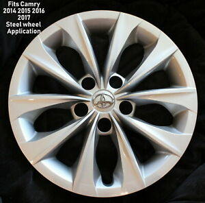 Fits 16 Steel Wheel For Toyota Camry 2014 15 16 17 2018 Hubcap Wheel Cover