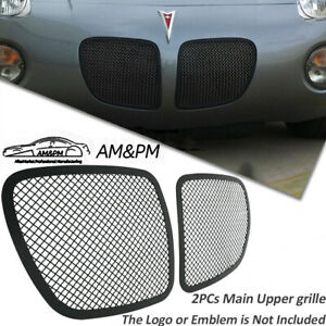 Fits 2006 2009 Pontiac Solstice Black Stainless Steel Mesh Grille Grill Insert