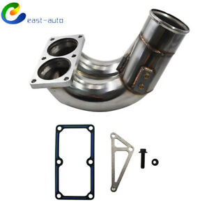 Stainless Steel 3 5 Raw Intake Elbow Fits For 07 5 18 Dodge Cummins 6 7 6 7l Di