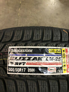 4 New 205 50 17 Bridgestone Blizzak Lm 25 Rft Run Flat Snow Tires