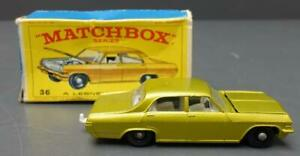 Vintage Matchbox Lesney No. 36 Opel Diplomat Made In England w/ box