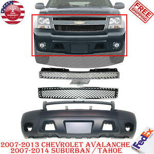 Front Bumper Cover Grilles For 2007 2013 Avalanche 2007 2014 Suburban Tahoe