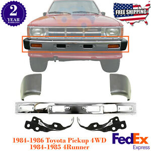 Front Bumper Chrome End Brackets For 84 86 Toyota Pickup 4wd 84 85 4runner