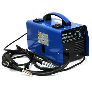 Mig 110 Inverter Flux Core Welder 110v 30 100a Gasless Auto Feed Welding Machine