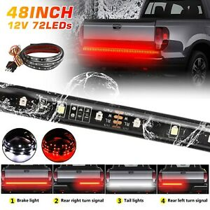48 Led Strip Tailgate Light Bar Reverse Brake Signal For Chevy Ford Jeep Truck