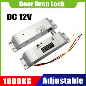 Electric Drop Door Lock Dc 12v Magnetic Induction Auto Dead Lock 1000kg 2200lb